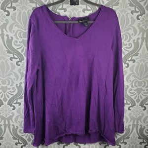Lane Bryant v-neck sweater w/ back zipper